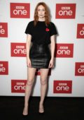 Eleanor Tomlinson attends 'War Of The Worlds' Q&A preview at BFI Southbank in London, UK