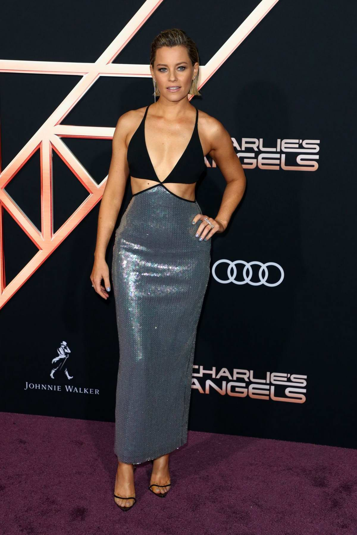 Elizabeth Banks attends the Premiere of 'Charlie's Angels' at Westwood Regency Theater in Los Angeles