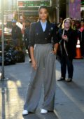Ella Balinska looks stylish while visiting 'Good Morning America' in New York City