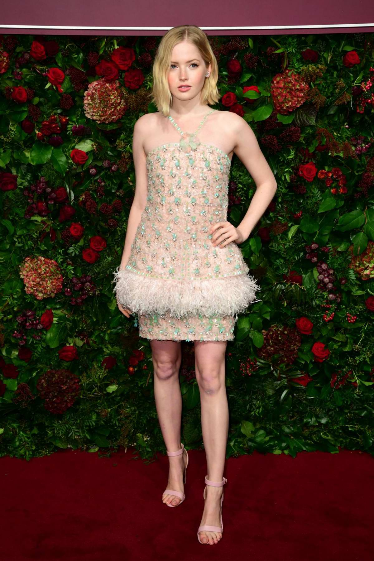 Ellie Bamber attends 65th Evening Standard Theatre Awards at the London Coliseum in London, UK