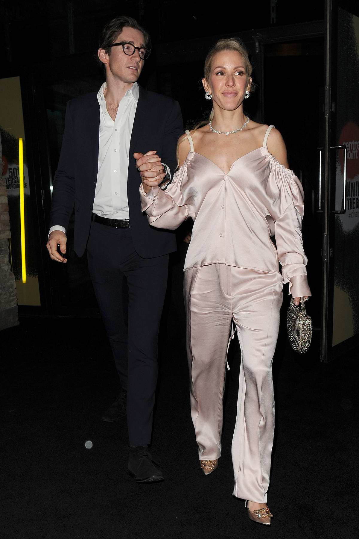 Ellie Goulding and Caspar Jopling seen leaving Centrepoint 50th Anniversary Gala at The Camden Roundhouse in London, UK
