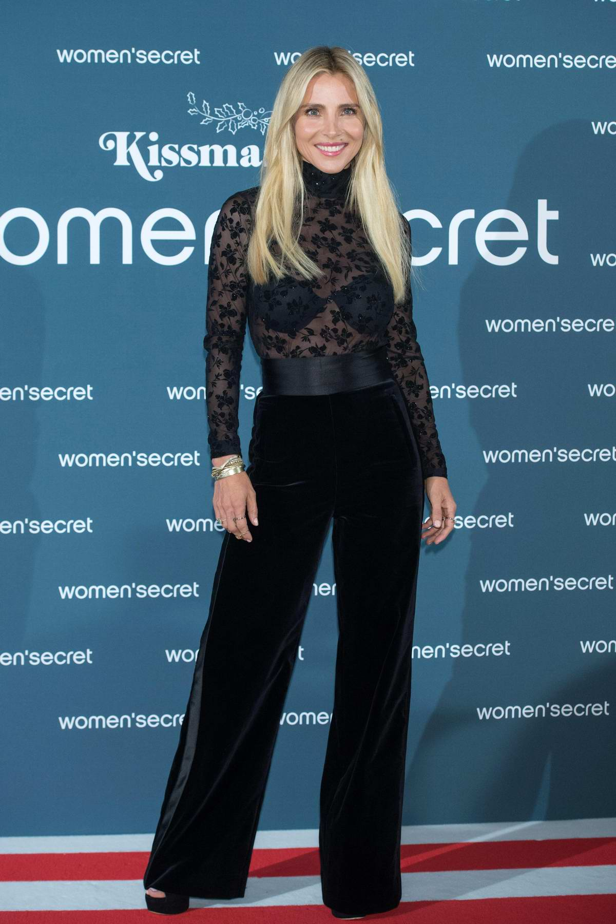 Elsa Pataky attends the Woman'Secret 'KissMas Time' Photocall at Santa Barbara Palace in Madrid, Spain