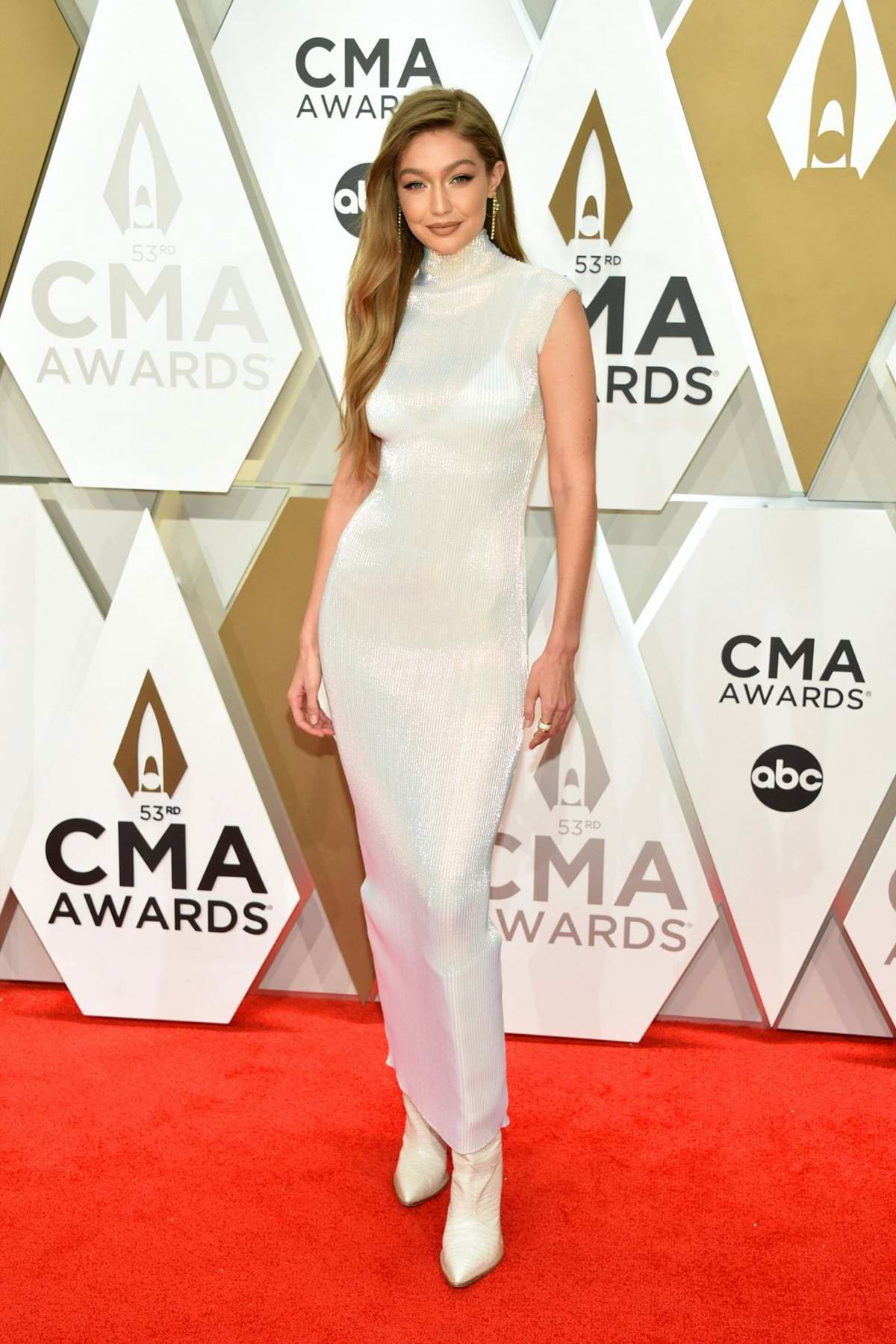 Gigi Hadid attends the 53nd annual CMA Awards at the Music City Center in Nashville, TN