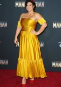 Gina Carano attends the Premiere of Disney+'s 'The Mandalorian' in Hollywood, California