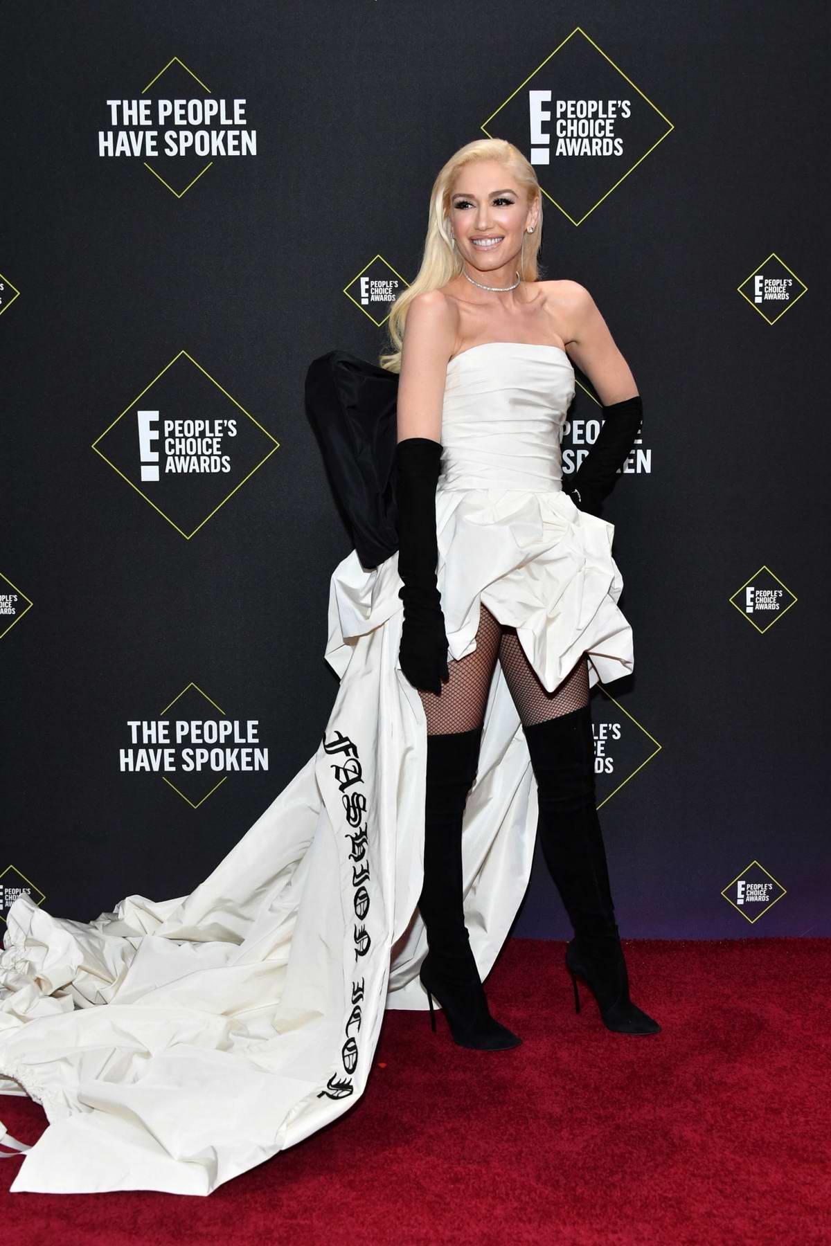 Gwen Stefani attends the 2019 E! People's Choice Awards held at the Barker Hangar in Santa Monica, California