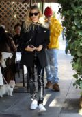 Hailey and Justin Bieber enjoy a late lunch at Il Pastaio in Beverly Hills, Los Angeles
