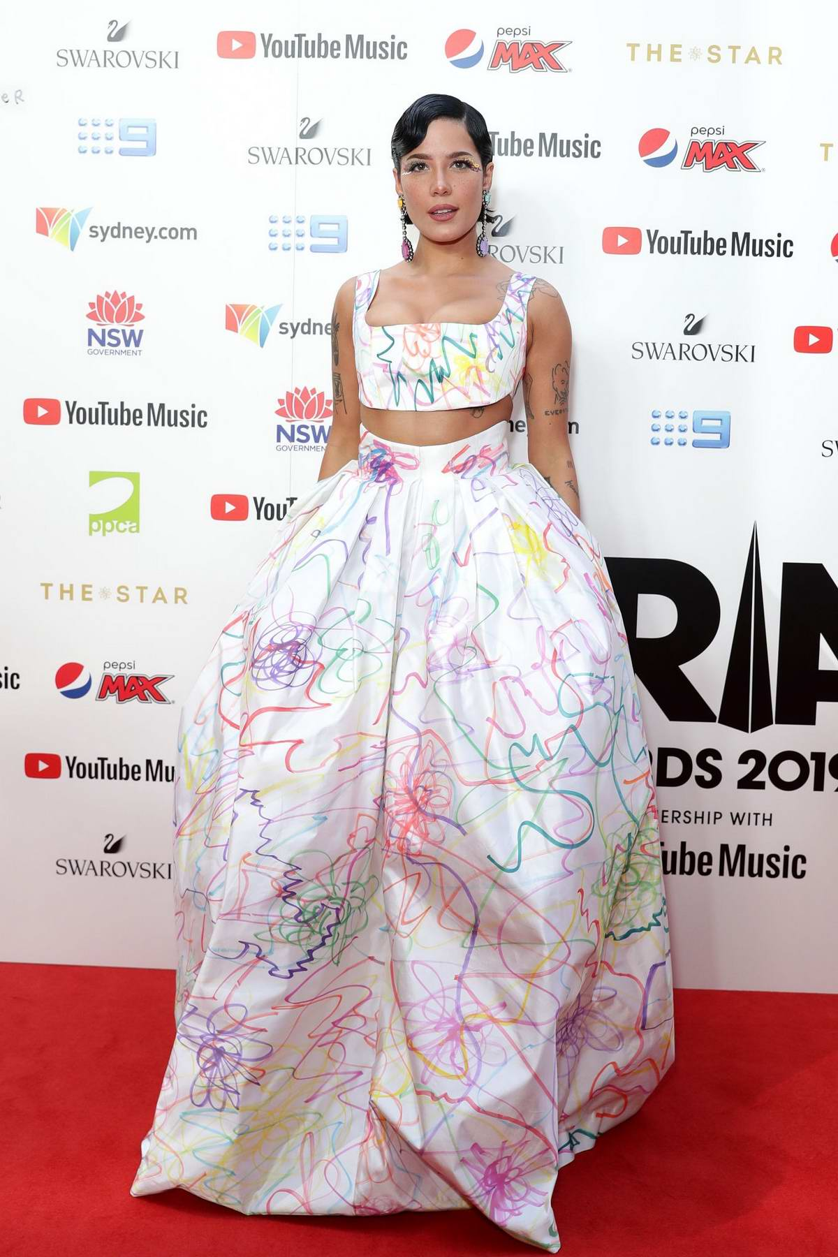 Halsey attends the 33rd Annual Aria Awards at the Star in Sydney, Australia