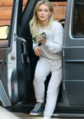 Hilary Duff picks up her pup from the Sherman Oaks Pet Hospital in Los Angeles