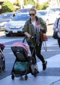 Hilary Duff steps out with her daughter for some shopping in Beverly Hills, Los Angeles