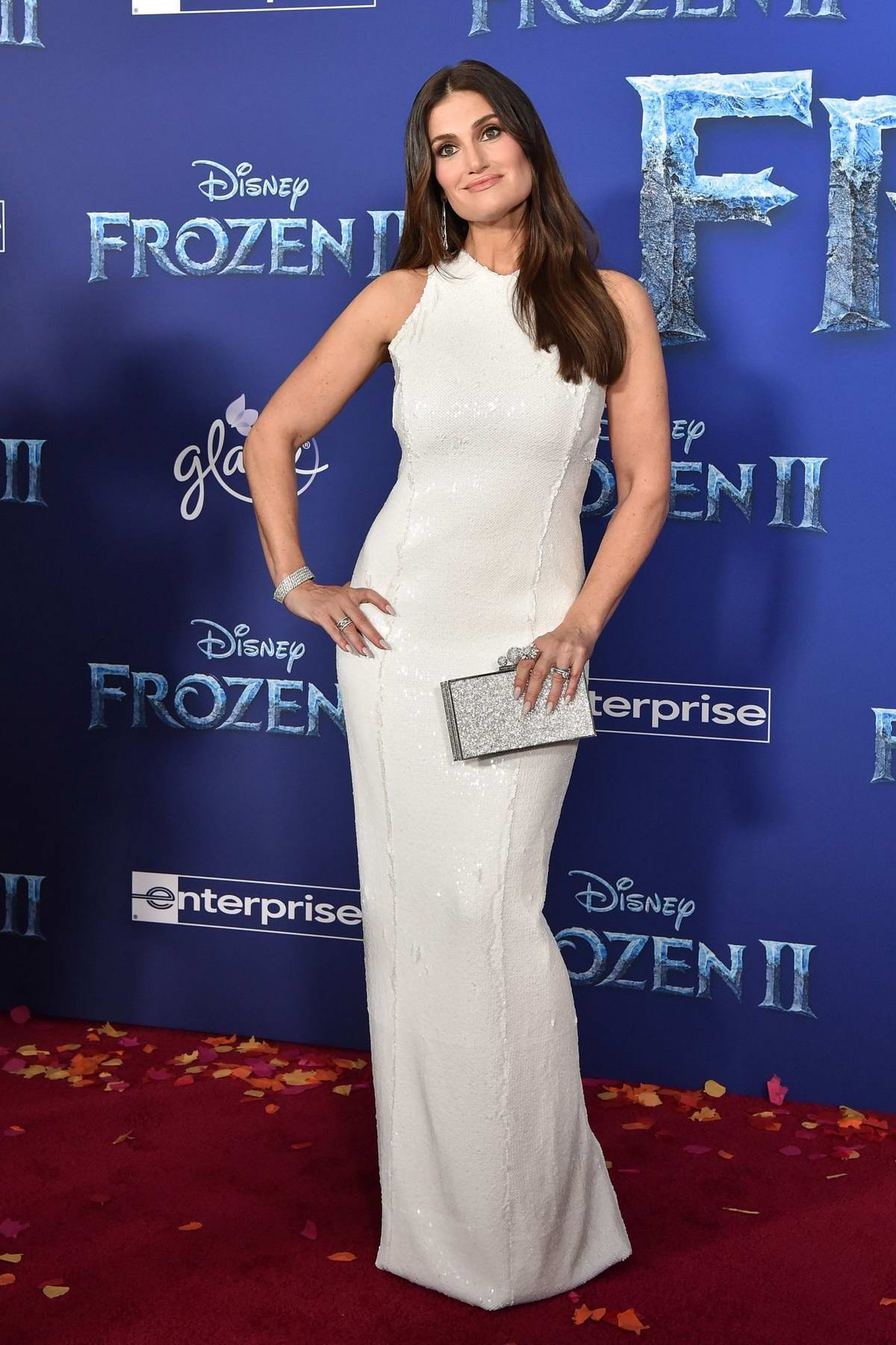 Idina Menzel attends the Premiere of Disney's 'Frozen 2' at Dolby Theatre in Hollywood, California