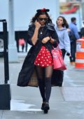 Irina Shayk steps out dressed up as Minnie Mouse for Halloween in New York City