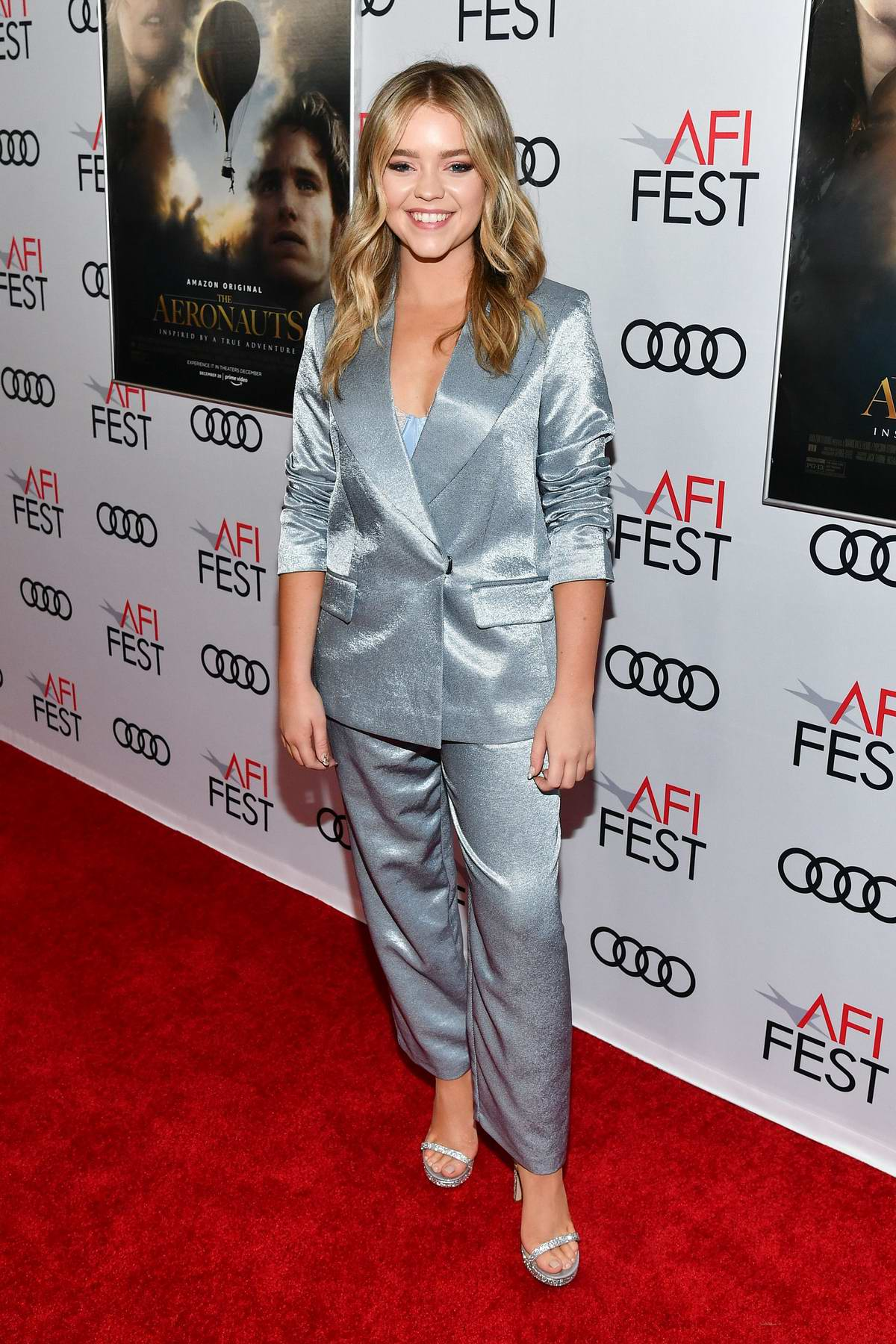 Jade Pettyjohn attends 'The Aeronauts' film gala screening during AFI Fest in Los Angeles