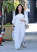 Jenna Dewan sports an 'Angel' costume for Halloween while out with her daughter and Steve Kazee in Los Angeles