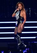 Jennifer Lopez performs live on stage at iHeartRadio Fiesta Latina Show in Miami, Florida