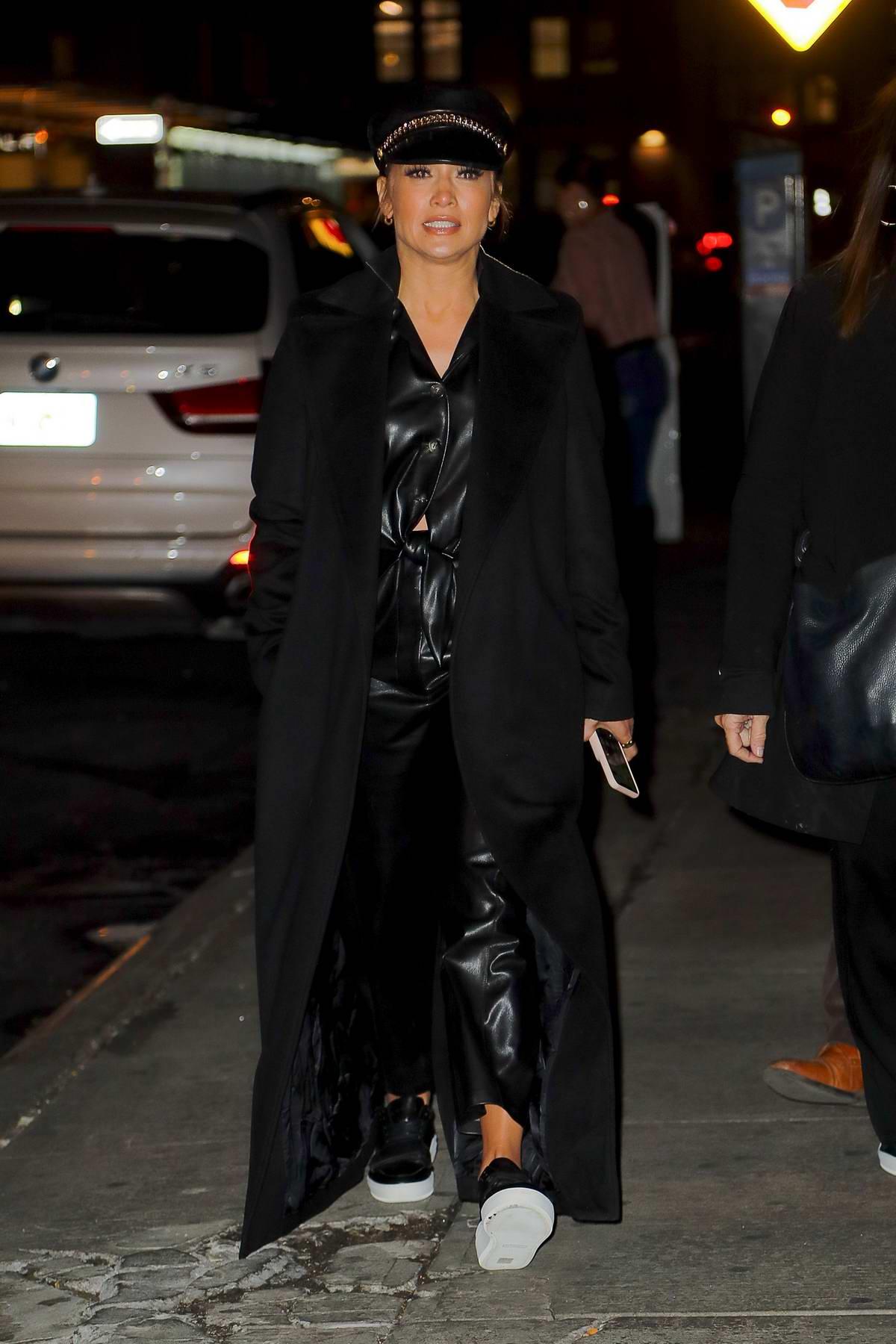 Jennifer Lopez sports an all-black ensemble as she steps out in New York City