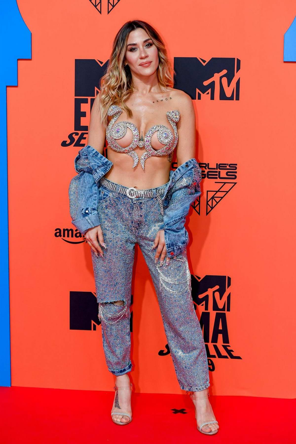 Jimena 'J Mena' Baron attends the MTV Europe Music Awards 2019 at FIBES Conference and Exhibition Centre in Seville, Spain