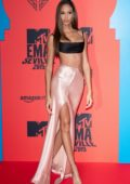 Joan Smalls attends the MTV European Music Awards 2019 at FIBES Conference and Exhibition Centre in Seville, Spain