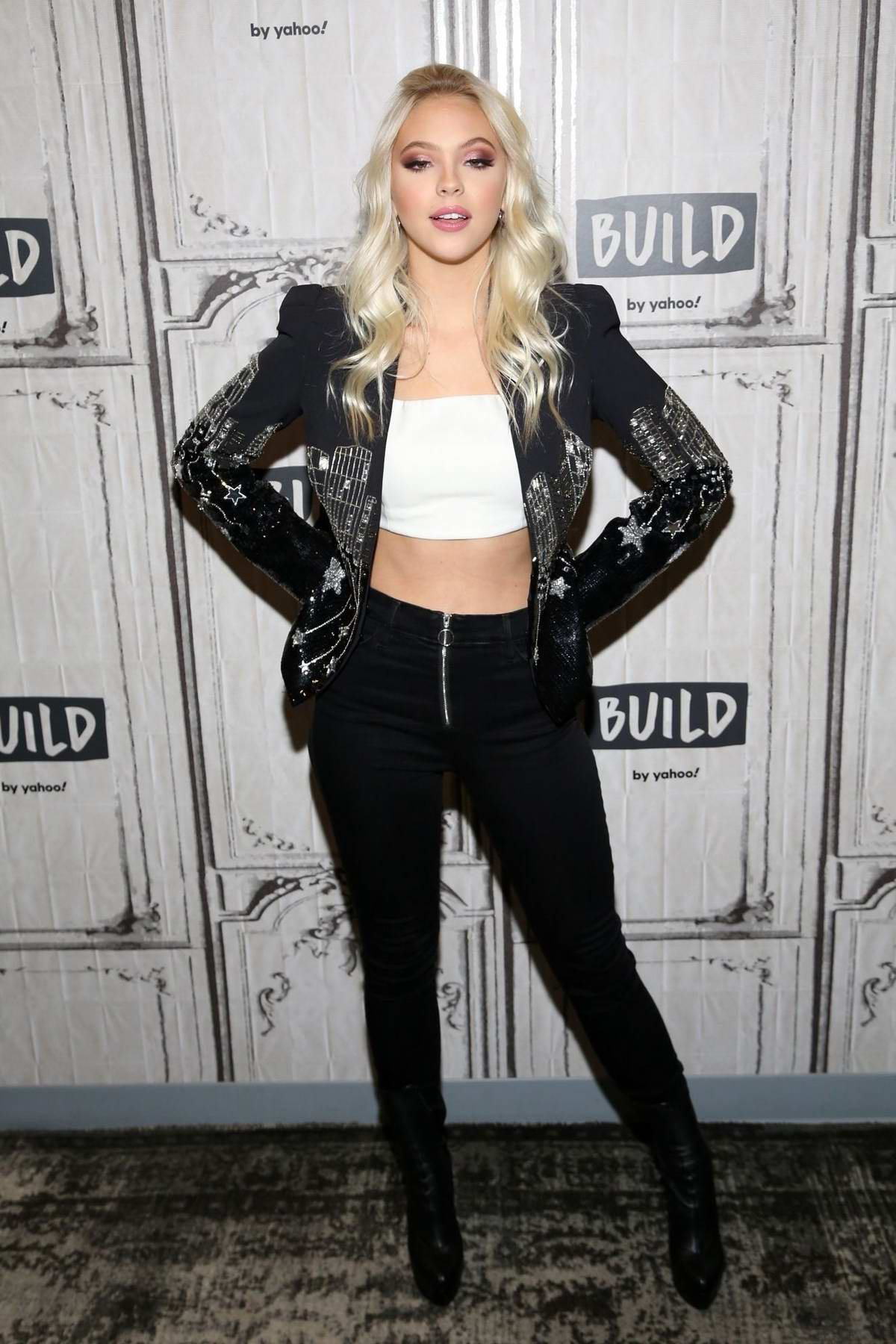 Jordyn Jones visits Build Series in New York City