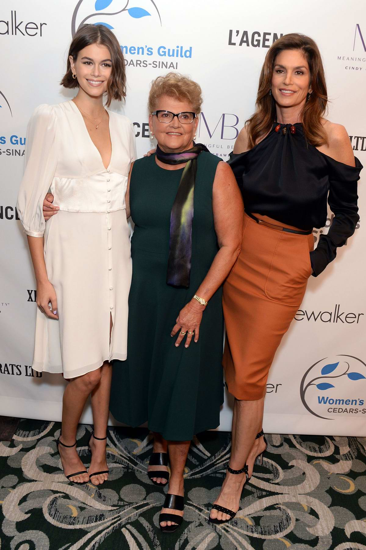 Kaia Gerber and Cindy Crawford attend Women's Guild Cedar's-Sinai Luncheon at Beverly Wilshire in Los Angeles