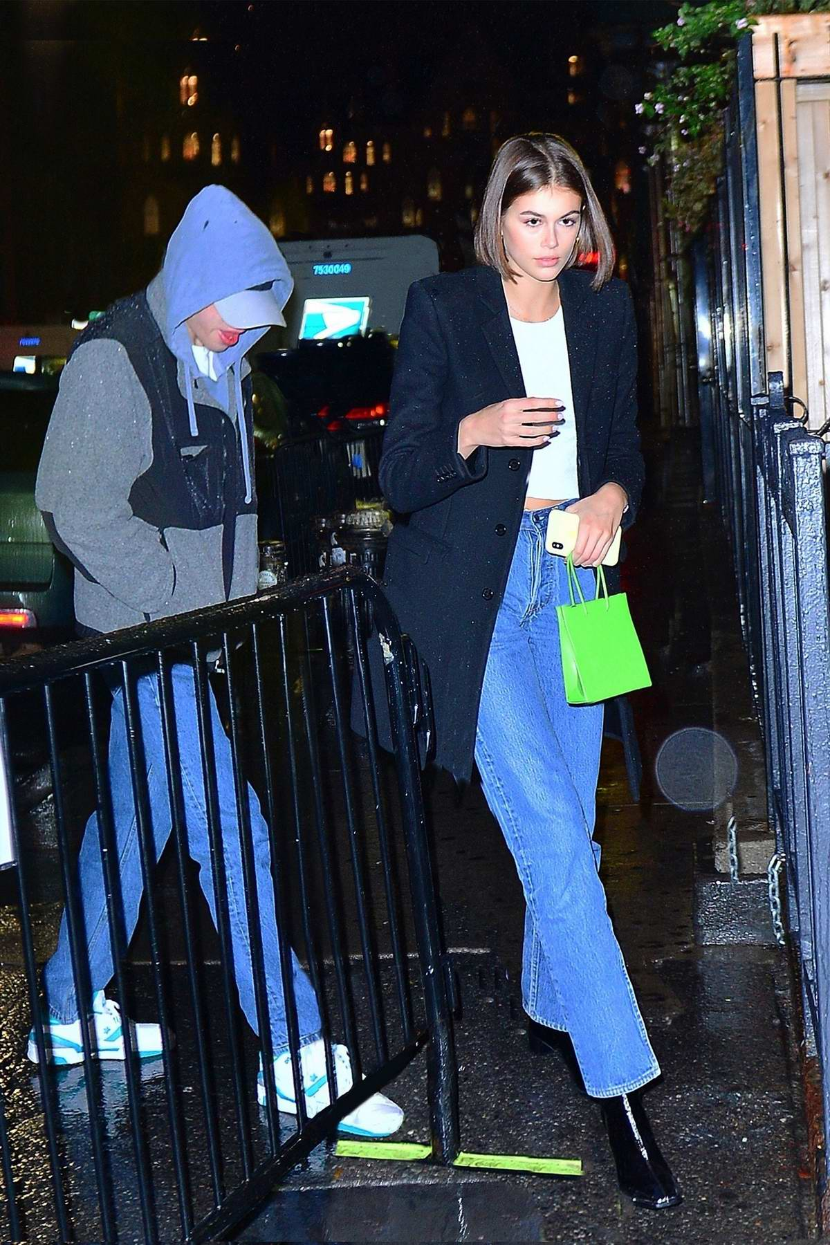 Kaia Gerber and Pete Davidson step out to Webster Hall to see Charlotte Lawrence in New York City