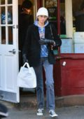 Kaia Gerber seen leaving Magnolia Bakery in New York City
