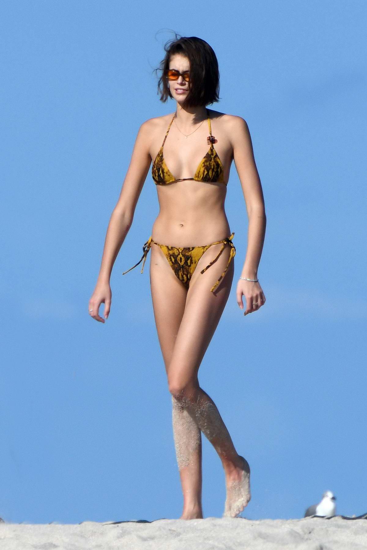 Kaia Gerber in Bikini - Social Media Pics - GotCeleb