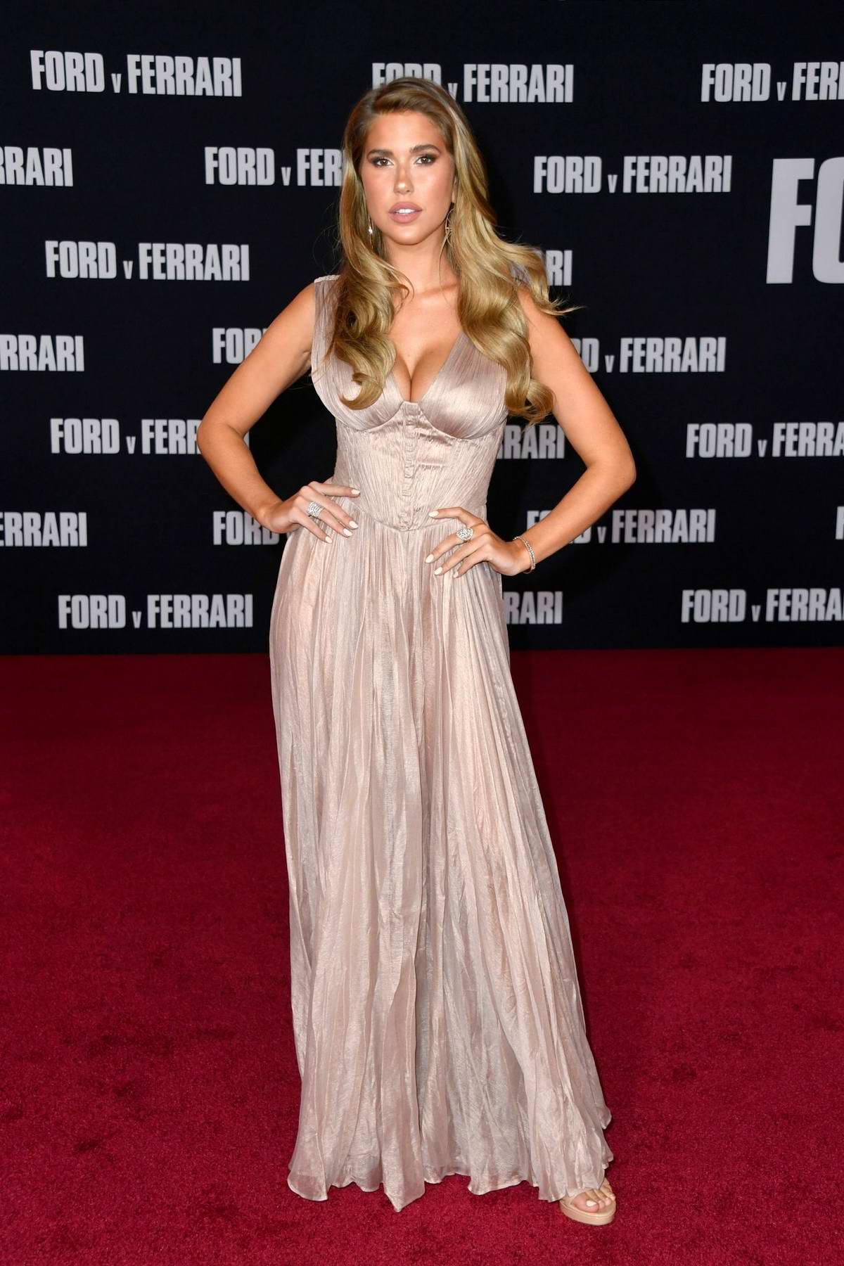 Kara Del Toro attends the Premiere of Ford v Ferrari at the TCL Chinese Theater in Los Angeles