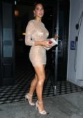 Kara Del Toro stuns in a sparkly sheer mini dress as she leaves Craig's Restaurant in West Hollywood, Los Angeles