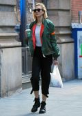 Karlie Kloss steps out for a food run at Dig Inn Restaurant in Soho, New York City