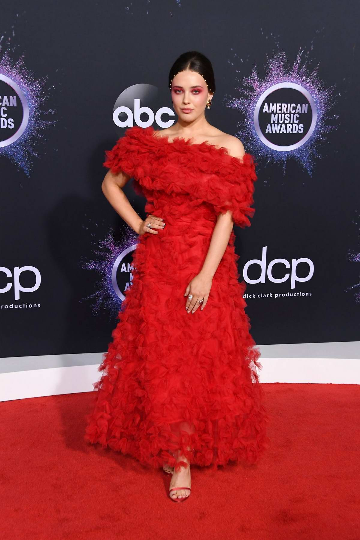 Katherine Langford attends the 2019 American Music Awards at Microsoft Theater in Los Angeles