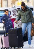 Katie Holmes and Suri Cruise arrive back at their apartment in New York City
