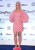 Katy Perry attends the OnePlus Music Festival Press Conference in Mumbai, India
