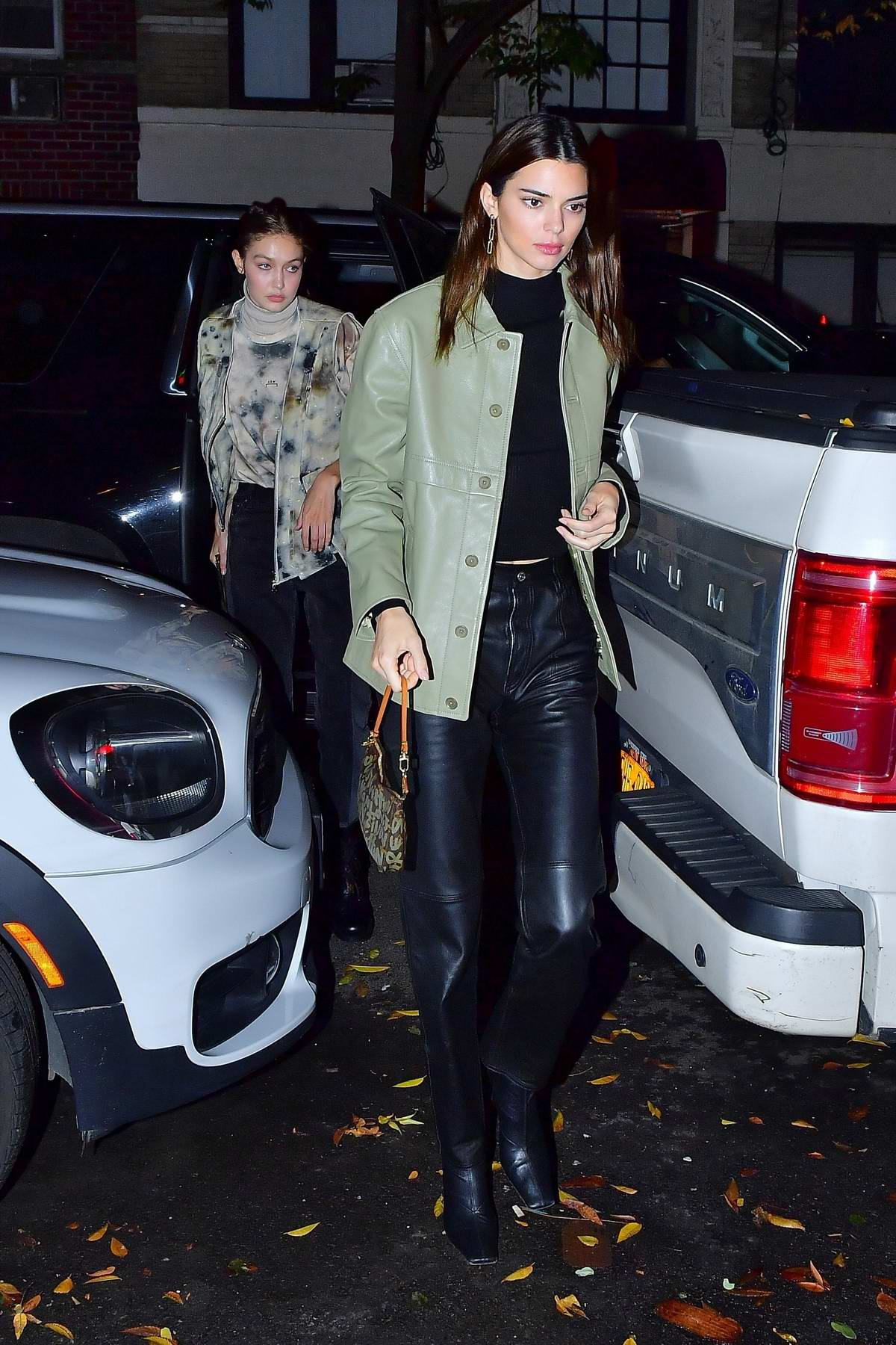Kendall Jenner and Gigi Hadid head out for dinner together at Carbone Italian restaurant in New York City