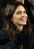 Kendall Jenner attends Los Angeles Rams vs Baltimore Ravens game at the Los Angeles Memorial Coliseum in Los Angeles