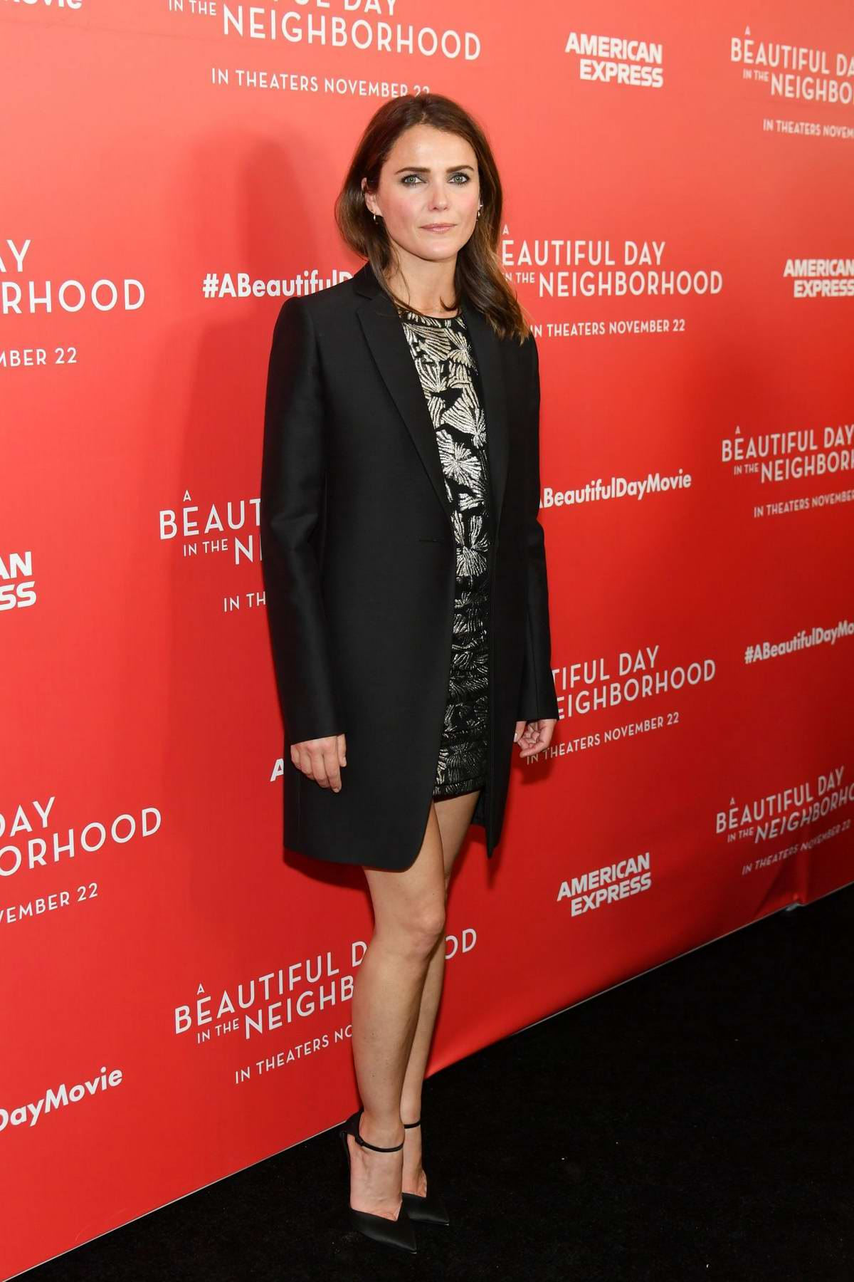 Keri Russell attends 'A Beautiful Day In The Neighborhood' NY Screening at Henry R Luce Auditorium in Brookfield Place, New York City