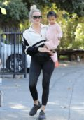 Khloe Kardashian takes her daughter to Farmers Market in Calabasas, California