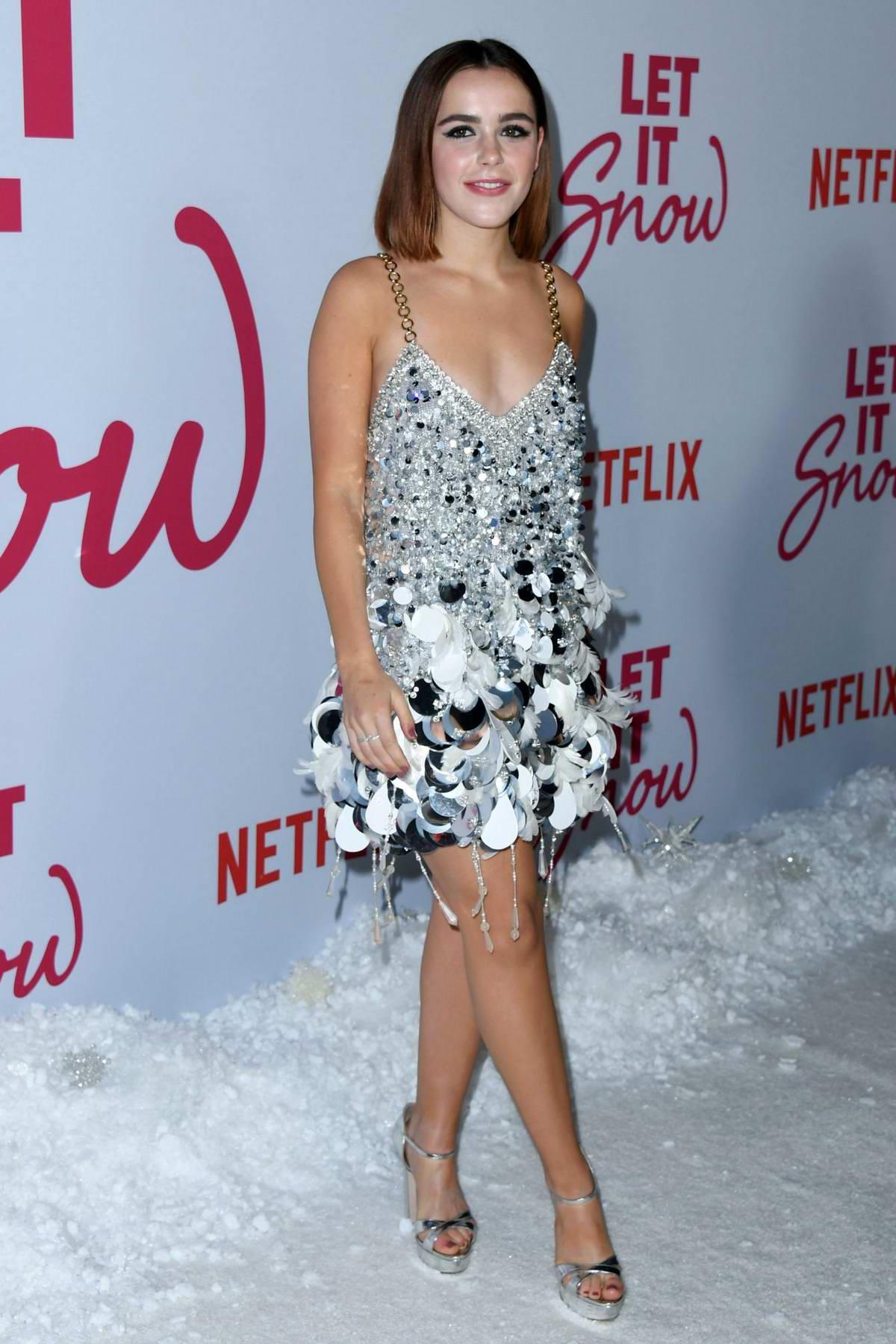 Kiernan Shipka attends the Premiere of Netflix's 'Let It Snow' in Los Angeles