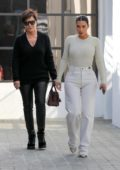 Kim Kardashian and Kris Jenner seen while paying a visit to grandma Mary Jo Campbell in Los Angeles