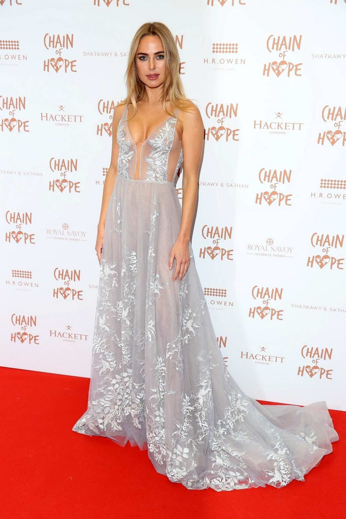 Kimberley Garner attends the 2019 Chain of Hope Ball in London, UK