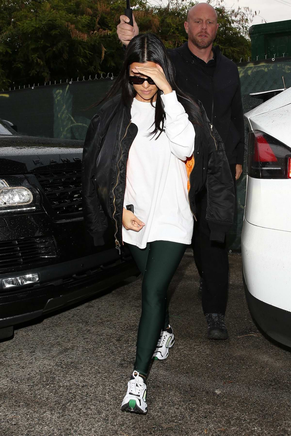 Kourtney Kardashian spotted as she visits a dance class in Studio City, California