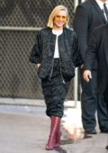 Kristen Bell is all smiles as she arrives for her appearance on 'Jimmy Kimmel Live' in Hollywood, California