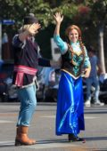 Kristen Bell spotted on the set of 'Frozen 2' while filming scenes outside the CBS studios in Los Angeles