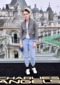 Kristen Stewart attends a photocall for Charlie's Angels at The Corinthia Hotel London in London, UK