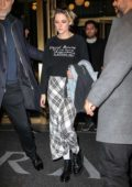 Kristen Stewart leaves after a press junket for 'Charlie's Angels' at the Concorde Hotel in New York City