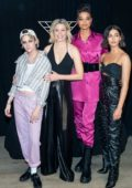 Kristen Stewart, Naomi Scott, Ella Balinska, and Elizabeth Bank attend a 'Charlie's Angels' Photocall in New York City