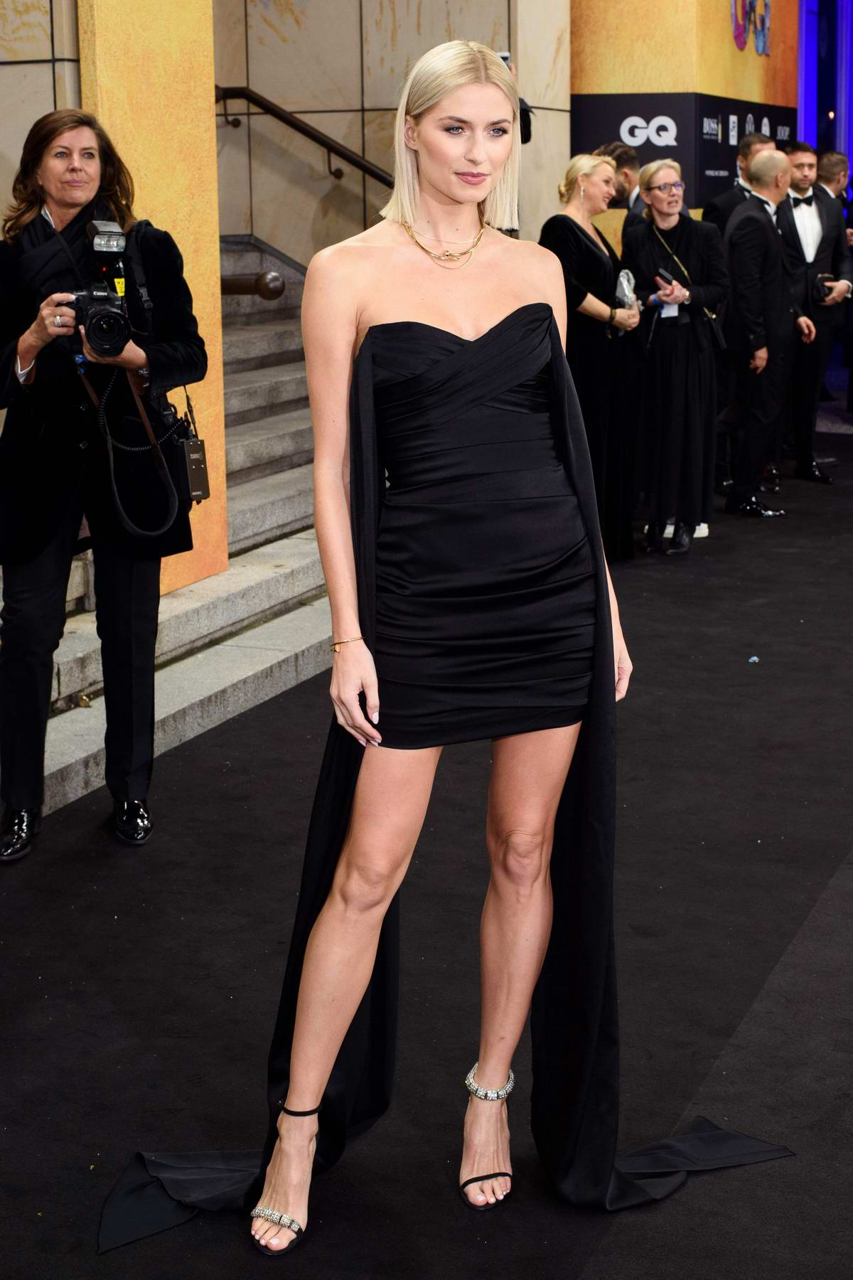 Lena Gercke attends the 2019 GQ Men of the Year Awards in Berlin, Germany