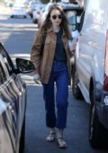 Lily Collins keeps it casual while on a coffee run in Los Angeles