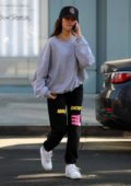 Madison Beer keeps it casual in Sweats while out for lunch with Isabella Jones at Croft Alley in Beverly Hills, Los Angeles
