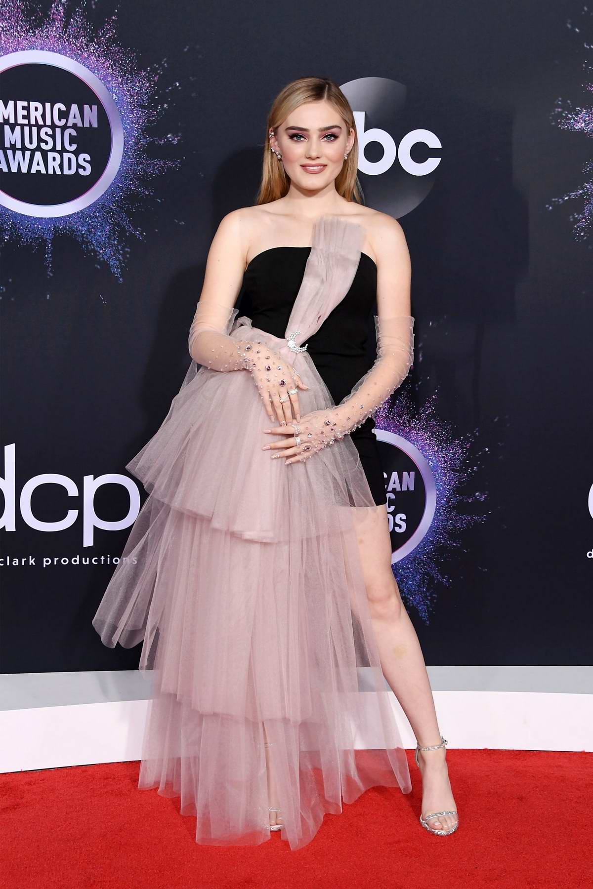 Meg Donnelly attends the 2019 American Music Awards at Microsoft Theater in Los Angeles