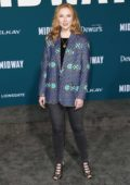 Molly Quinn attends the Premiere of 'Midway' at Regency Village Theatre in Westwood, California
